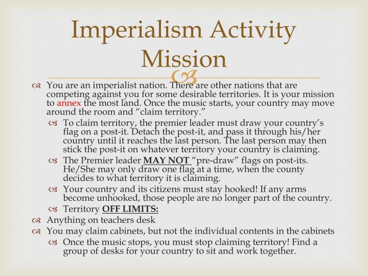 Imperialism Activity Mission