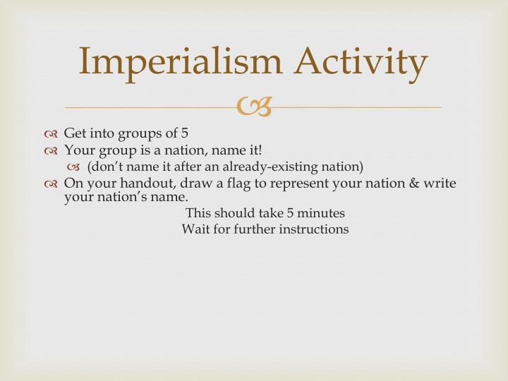 Imperialism Activity