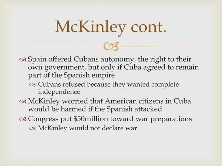 McKinley cont.