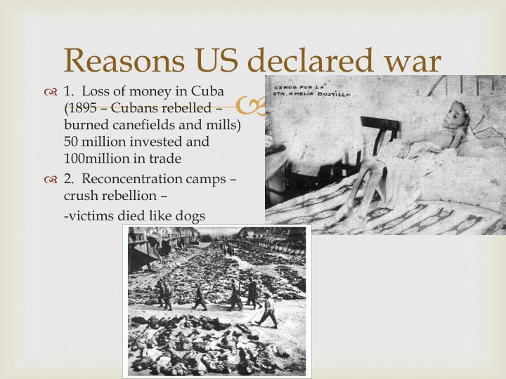 Reasons US declared war