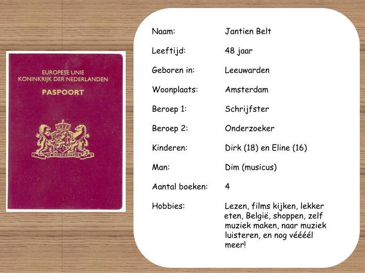 Naam: Jantien Belt