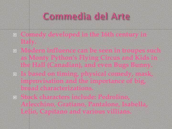 Commedia del Arte