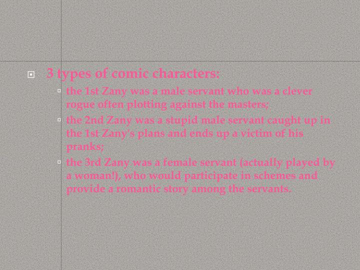3 types of comic characters:
