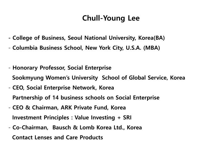 Chull young lee