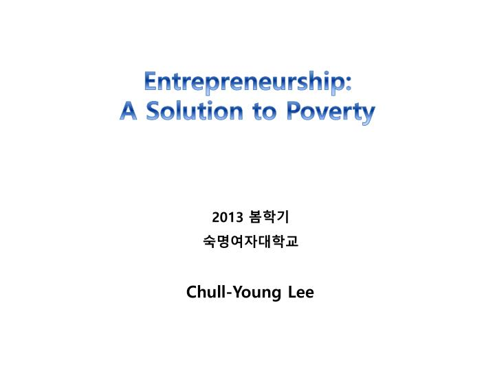 Entrepreneurship a solution to poverty