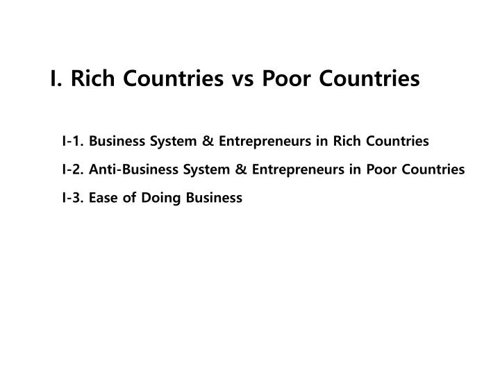 I. Rich Countries