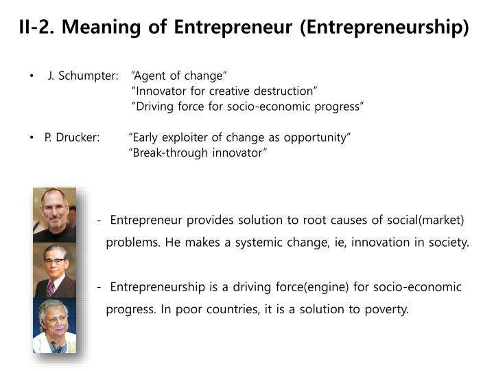 II-2. Meaning of Entrepreneur (Entrepreneurship)