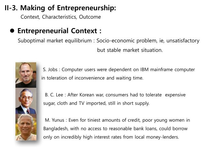 II-3. Making of Entrepreneurship: