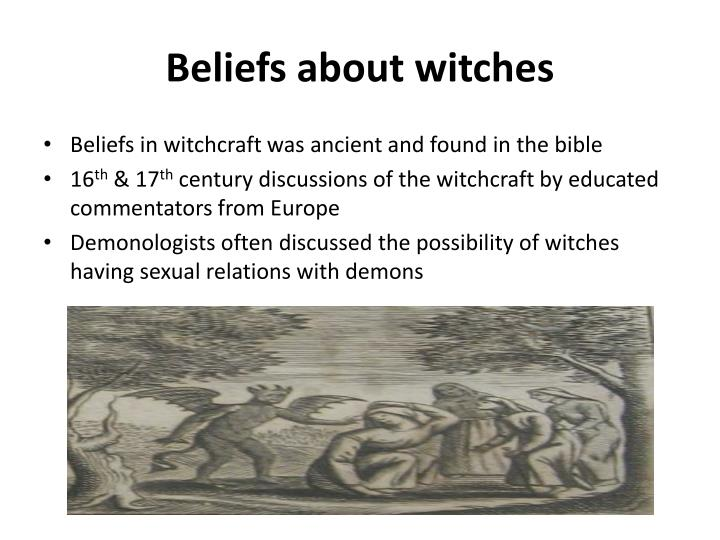 Beliefs about witches
