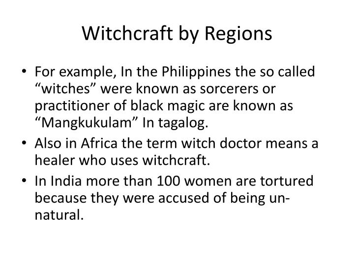 Witchcraft by Regions
