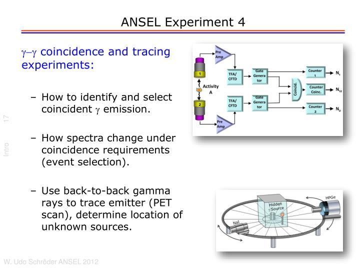 ANSEL Experiment 4