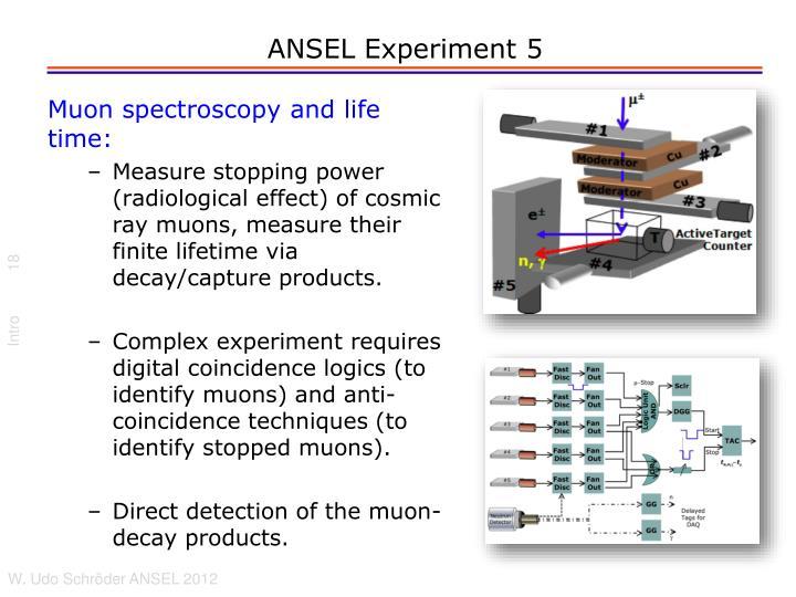 ANSEL Experiment 5