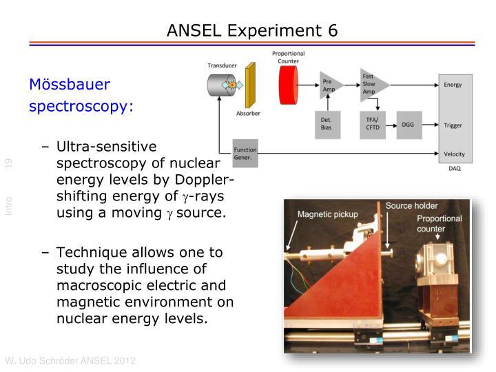 ANSEL Experiment 6