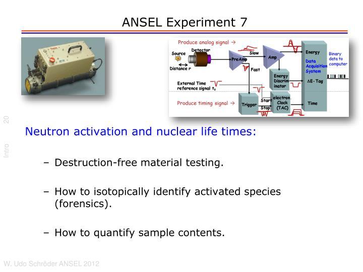 ANSEL Experiment 7