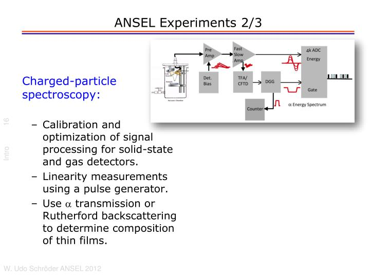 ANSEL Experiments 2/3