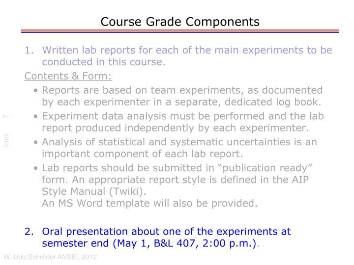Course Grade Components