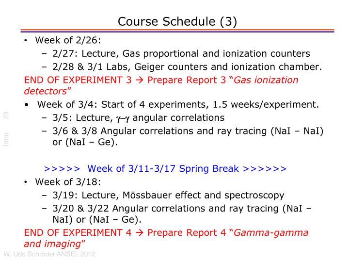 Course Schedule (3)