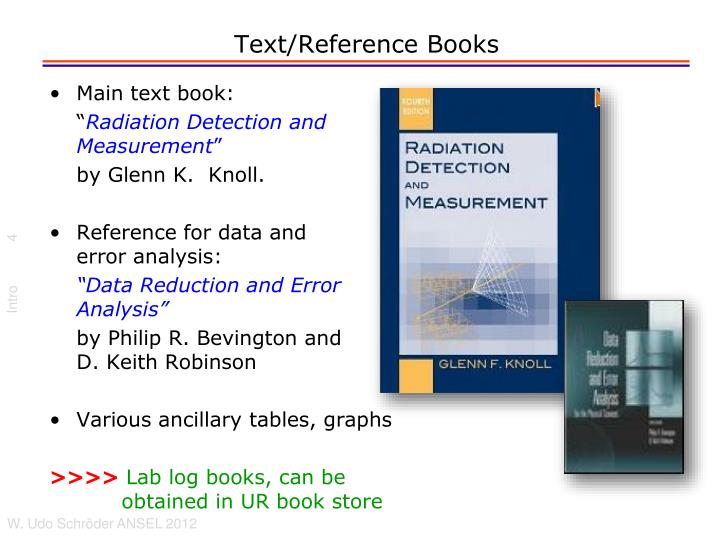 Text/Reference Books