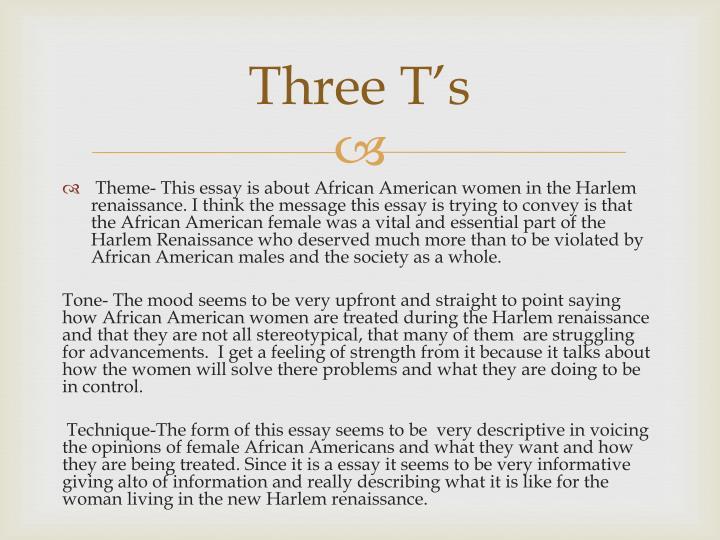 Three T's