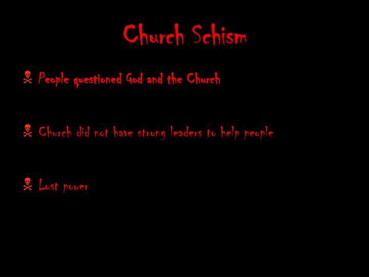 Church Schism