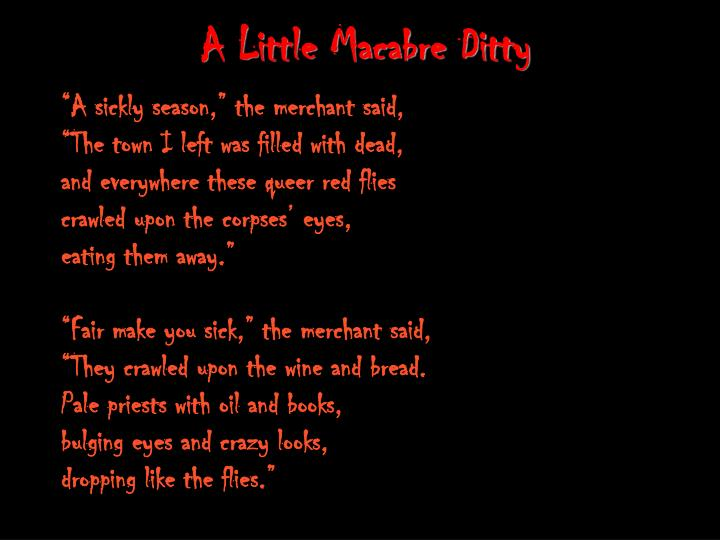 A Little Macabre Ditty