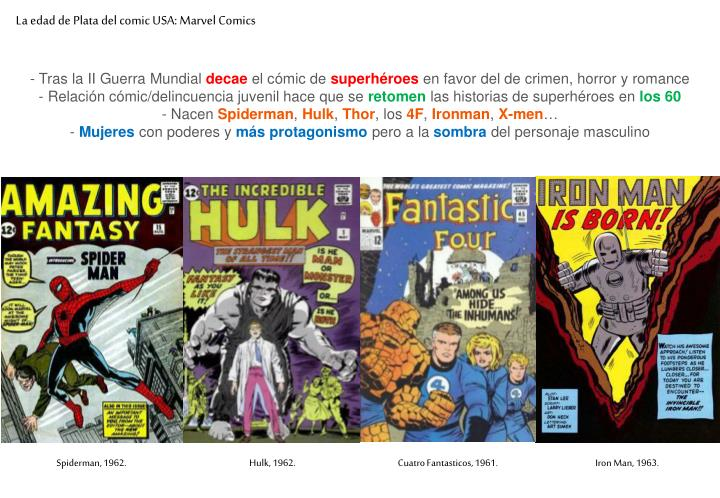 La edad de Plata del comic USA: Marvel Comics