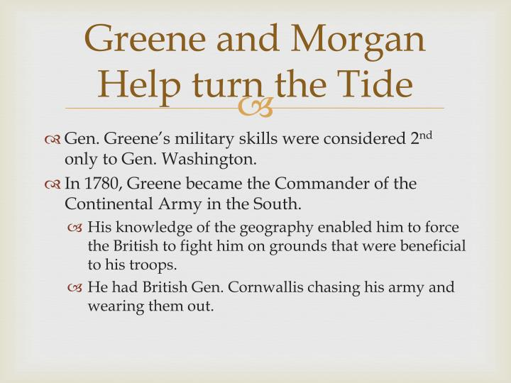 Greene and Morgan Help turn the Tide