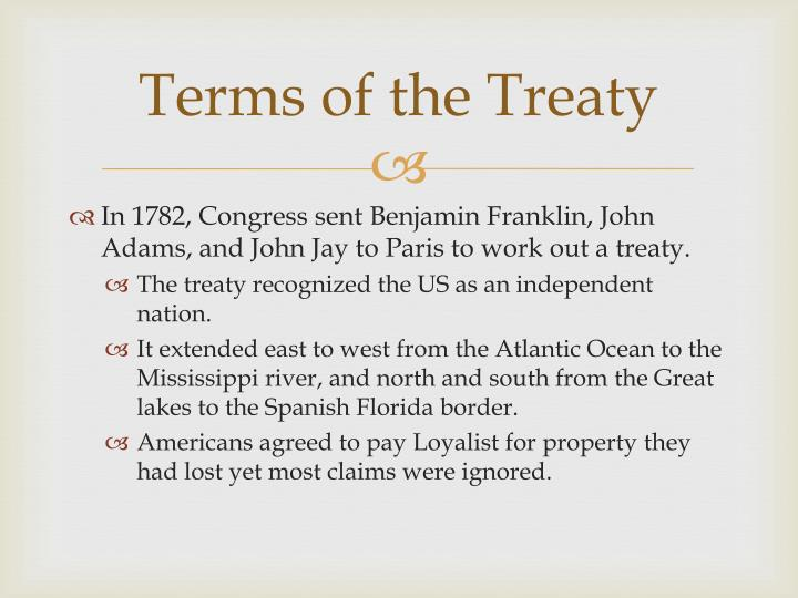 Terms of the Treaty