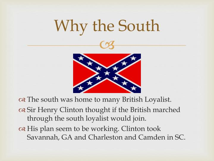 Why the South