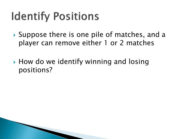 Identify Positions