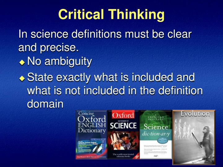 critical thinking science definition