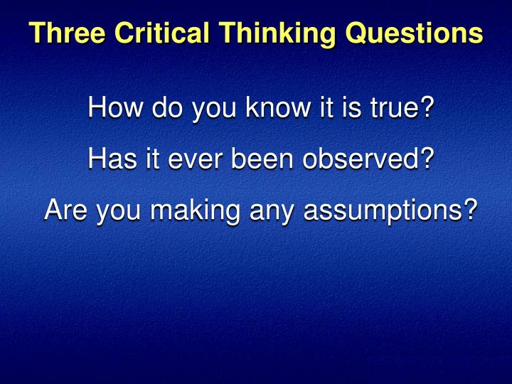 the role of critical thinking in the online learning environment Via education articles critical thinking is a term that is given much discussion without much action k-12 educators and administrators are pushed to teach the necessities as dictated by the standardized assessments in order to catch up the students to students of other countries.