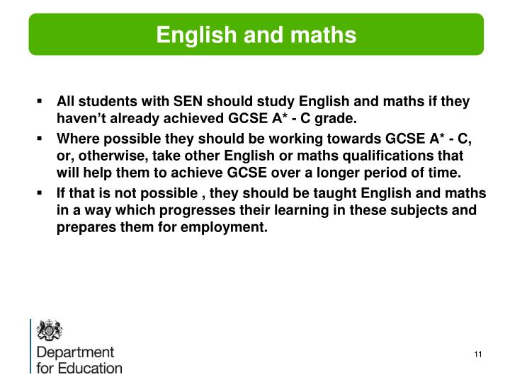 English and maths