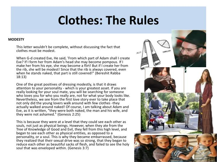 Clothes: The Rules
