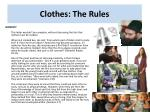 clothes the rules