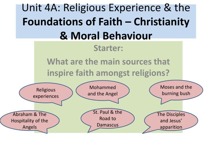 Unit 4A: Religious Experience & the