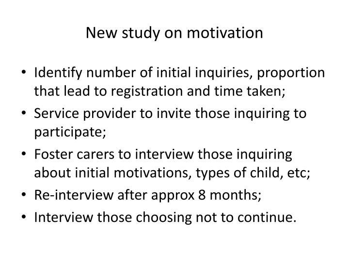 New study on motivation