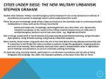 cities under siege the new military urbanism stephen graham