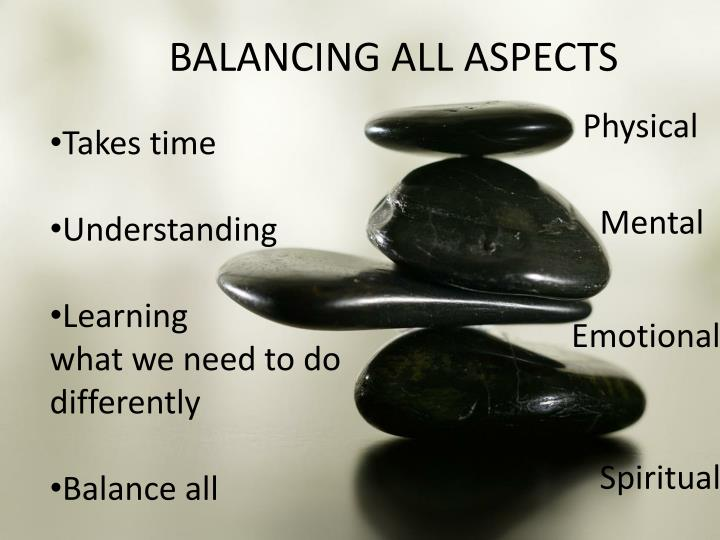 BALANCING ALL ASPECTS