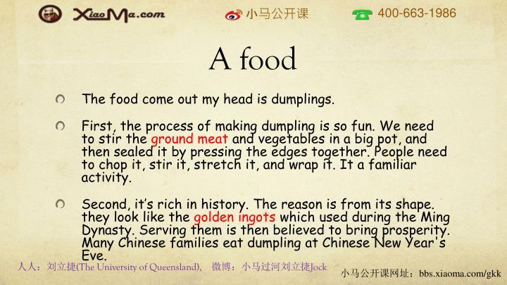 A food