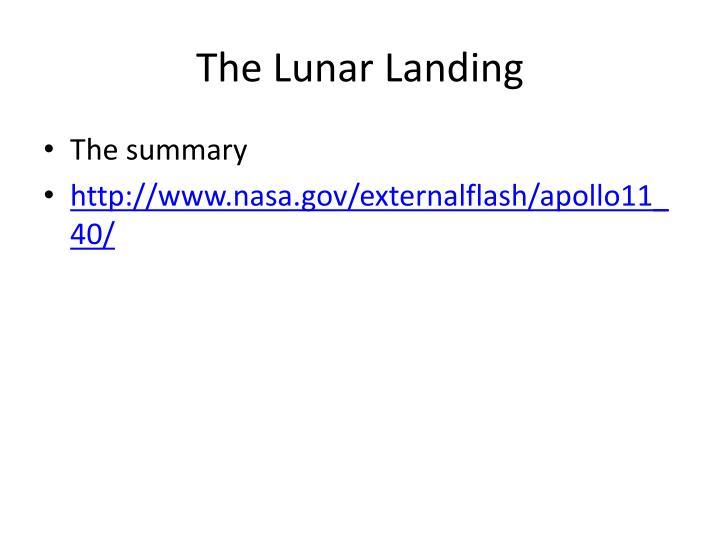 The Lunar Landing