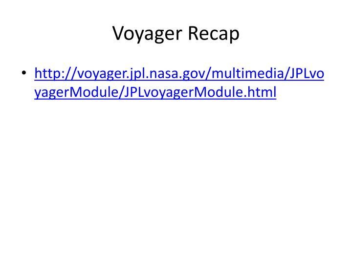 Voyager Recap