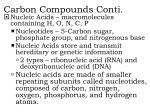 carbon compounds conti6