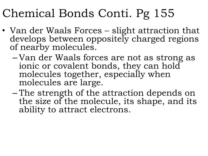 Chemical Bonds Conti