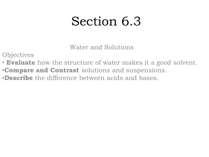 Section 6.3