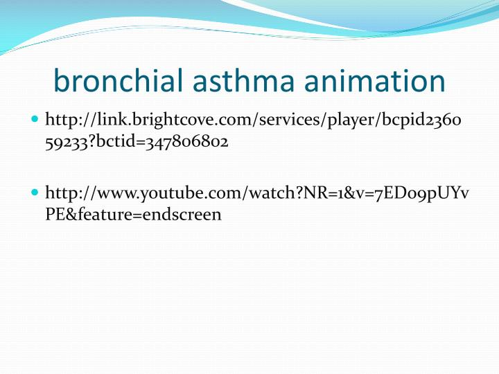 bronchial asthma animation