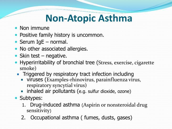 Non-Atopic Asthma