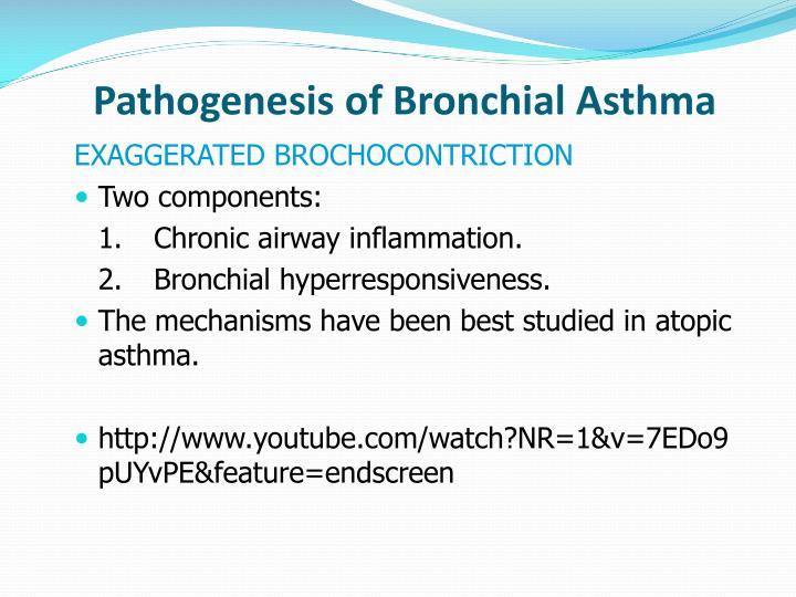 Pathogenesis of Bronchial Asthma
