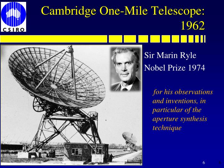 Cambridge One-Mile Telescope: 1962