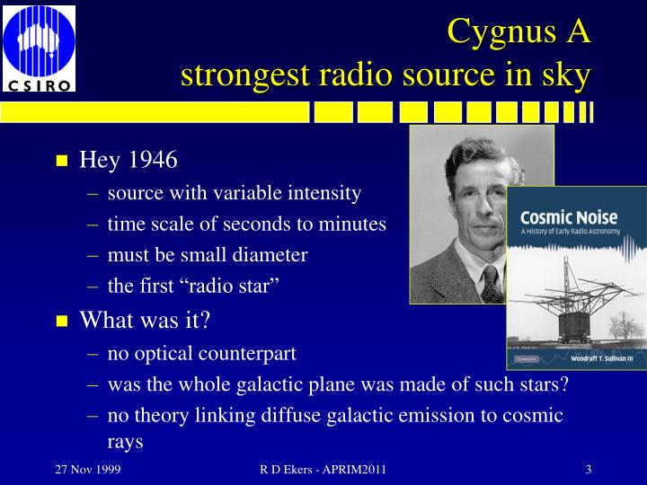 Cygnus a strongest radio source in sky